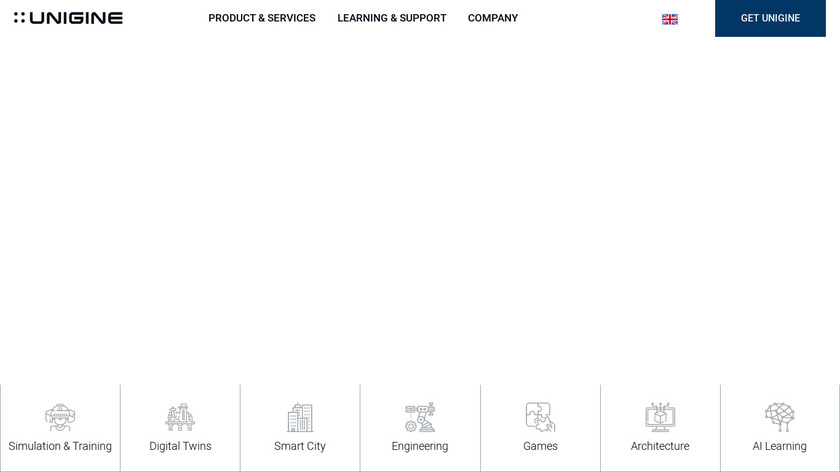 Unigine Landing Page