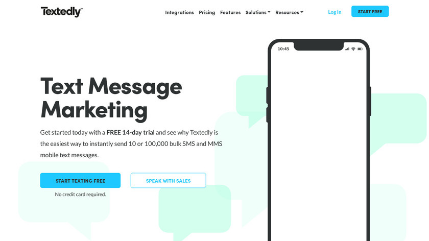 Textedly Landing Page