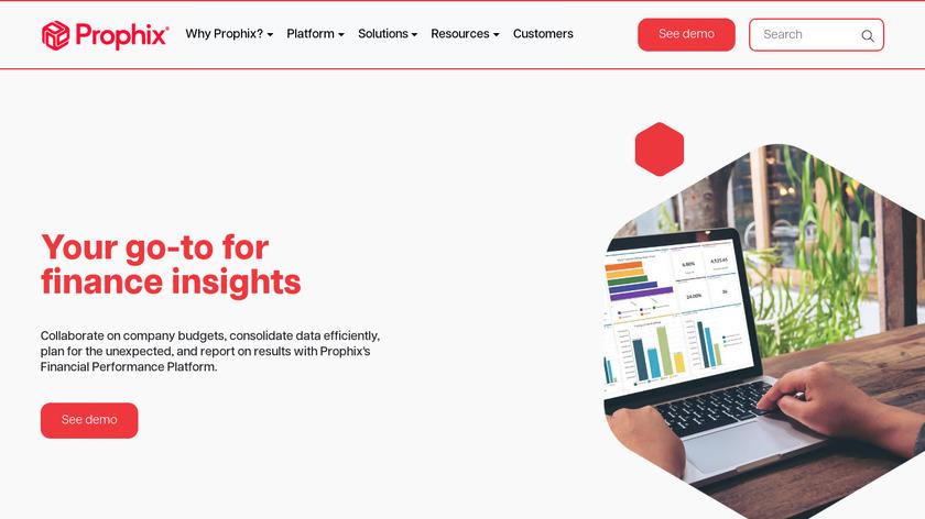 Prophix Software Landing Page
