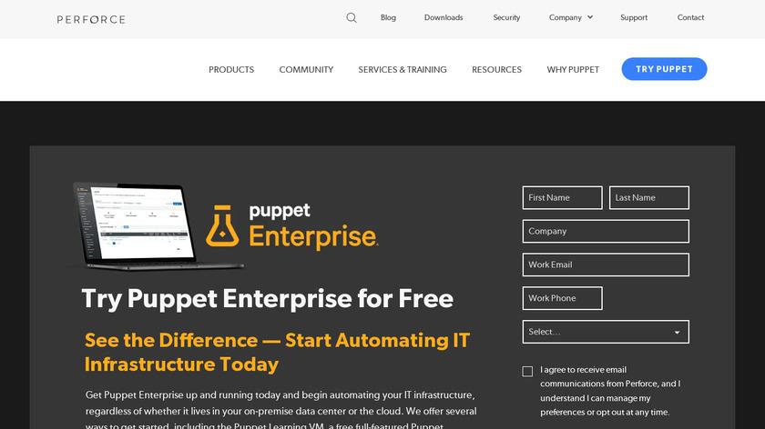 Puppet Enterprise Landing Page