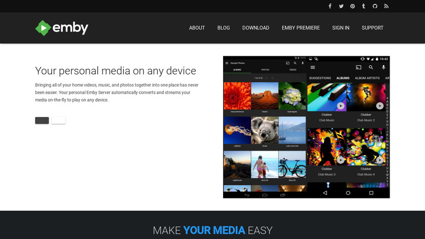 Emby Landing Page