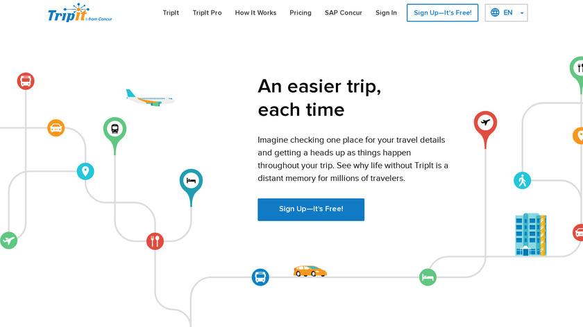 TripIt Landing Page