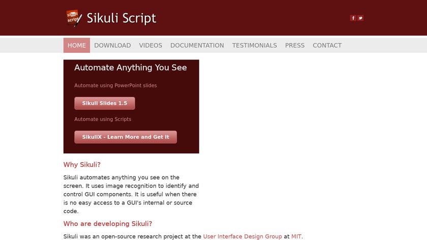 Sikuli Landing Page