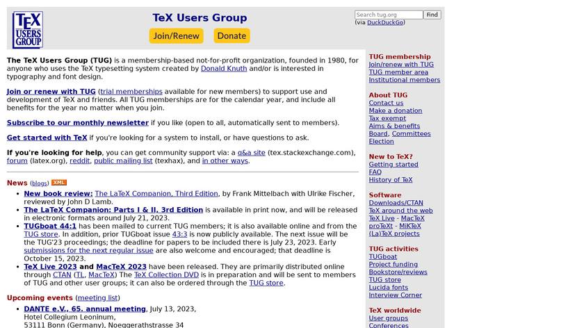 TeXworks Landing Page