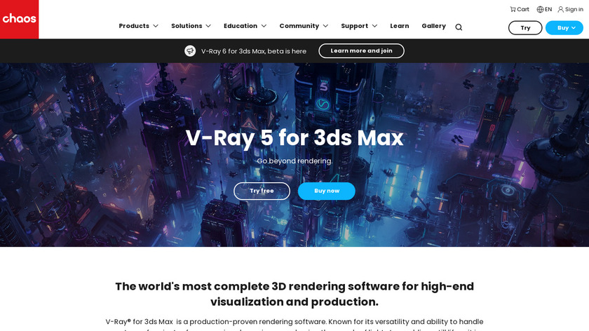 V-Ray Landing Page