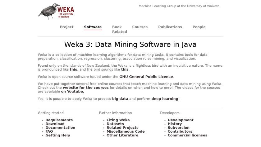 WEKA Landing Page