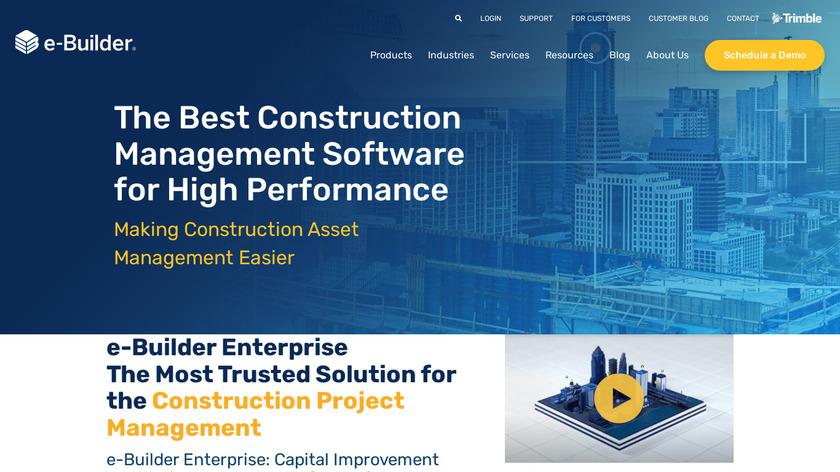 e-Builder Landing Page