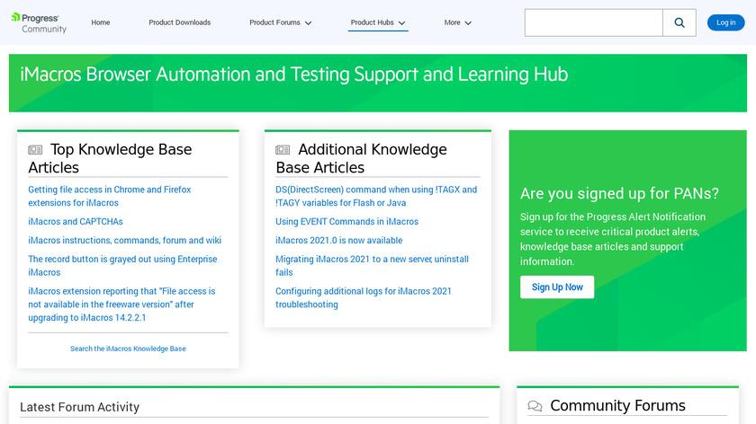 iMacros Landing Page