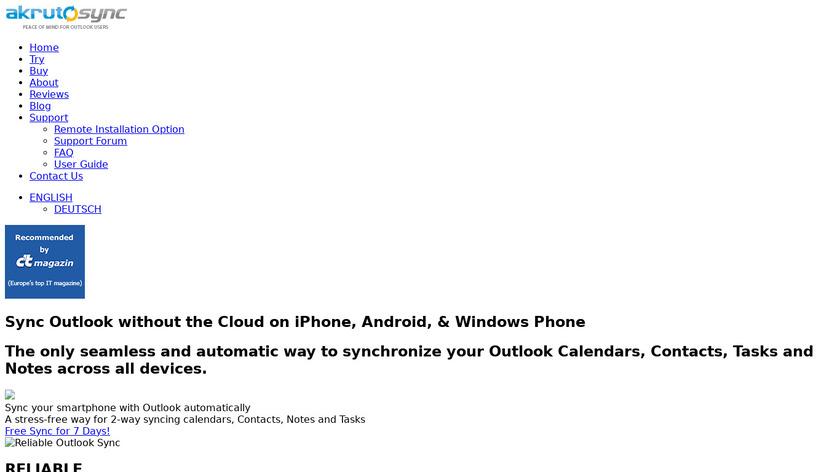 AkrutoSync Landing Page