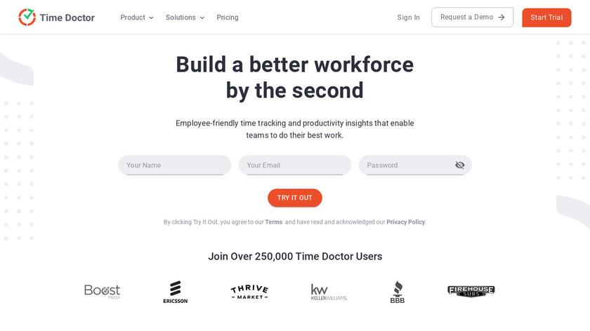 Staff.com Landing Page