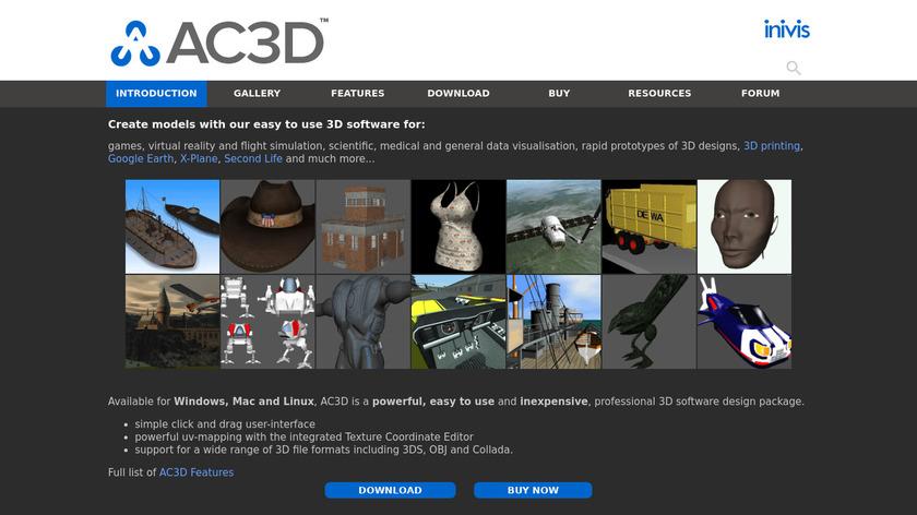 AC3D Landing Page
