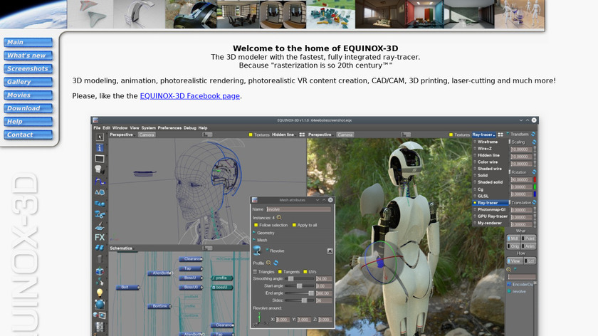 EQUINOX-3D Landing Page