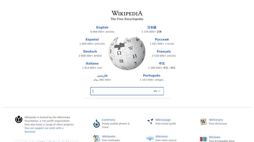 Wikipedia Landing Page