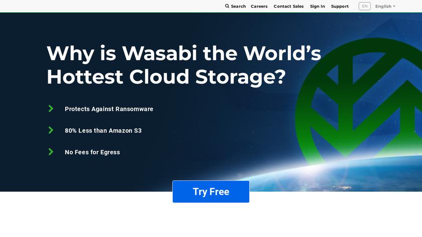 Wasabi Landing Page