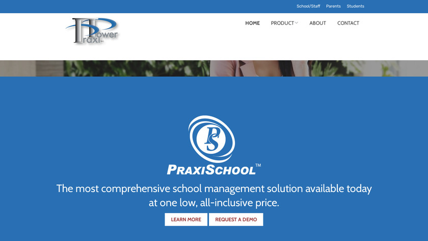 PraxiSchool Landing Page