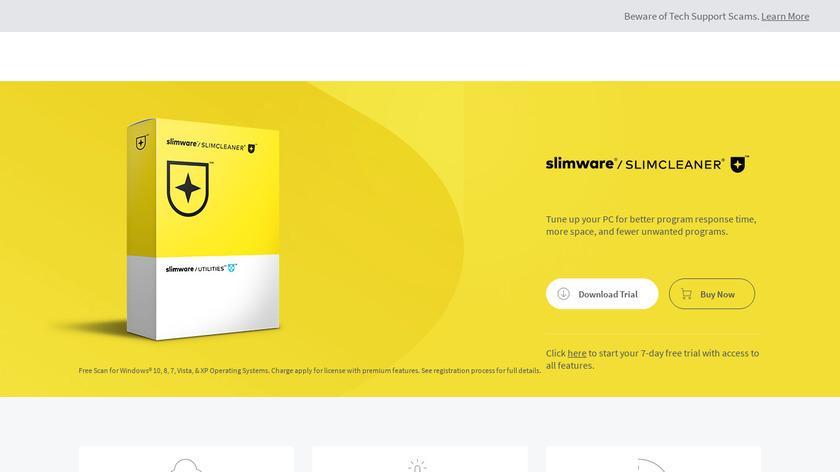 SlimCleaner Landing Page