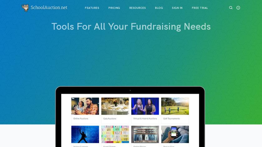 SchoolAuction.net Landing Page
