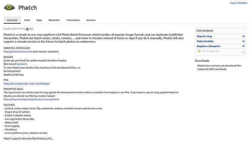 Phatch Landing Page