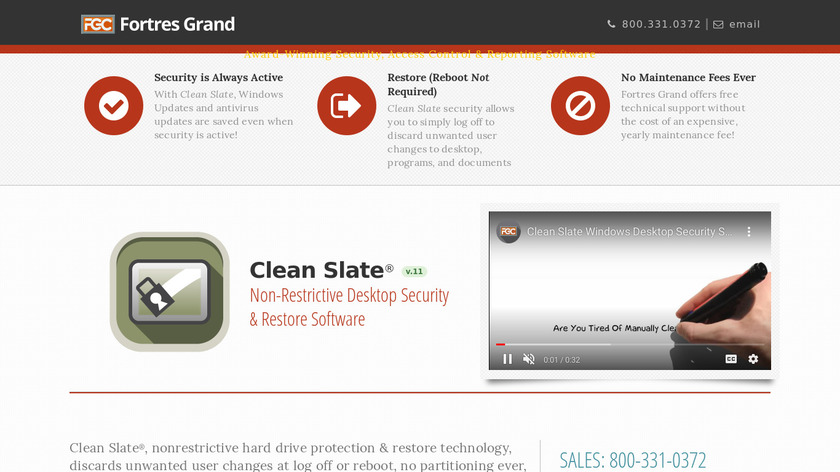 Clean Slate Landing Page