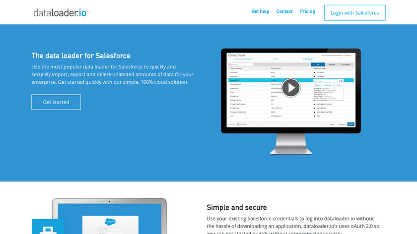 dataloader.io Landing Page