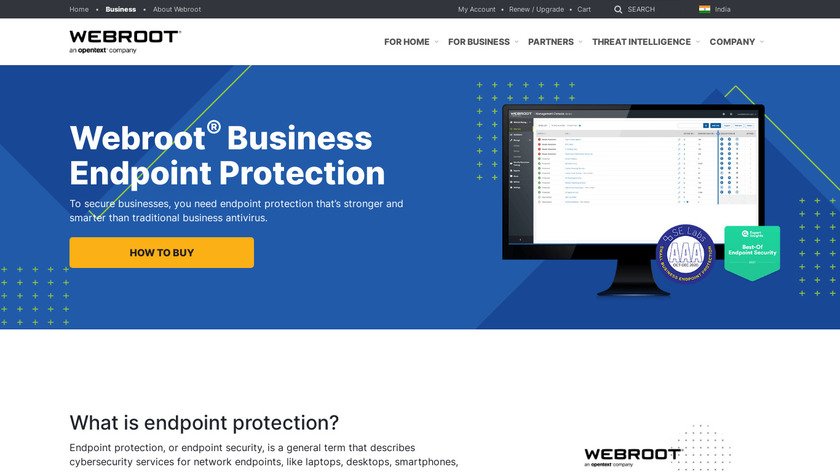 Webroot Endpoint Protection Landing Page