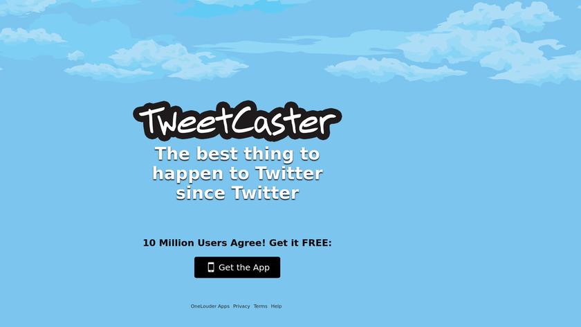 TweetCaster Landing Page