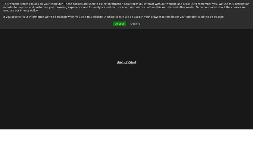 Keyshot Landing Page