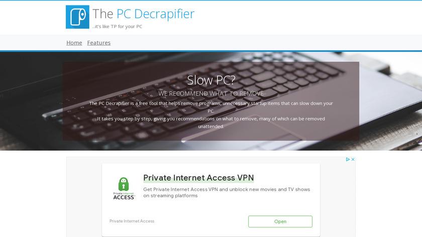 PC Decrapifier Landing Page