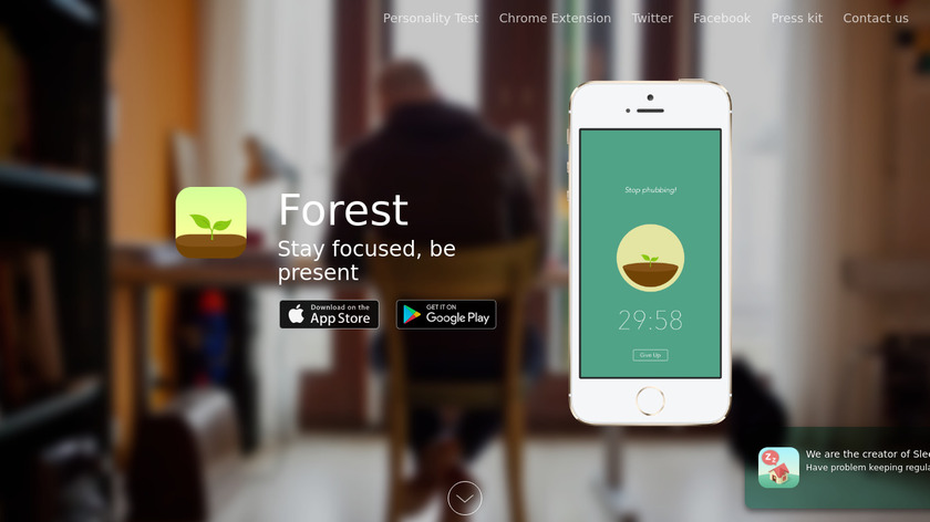 Forest Landing Page