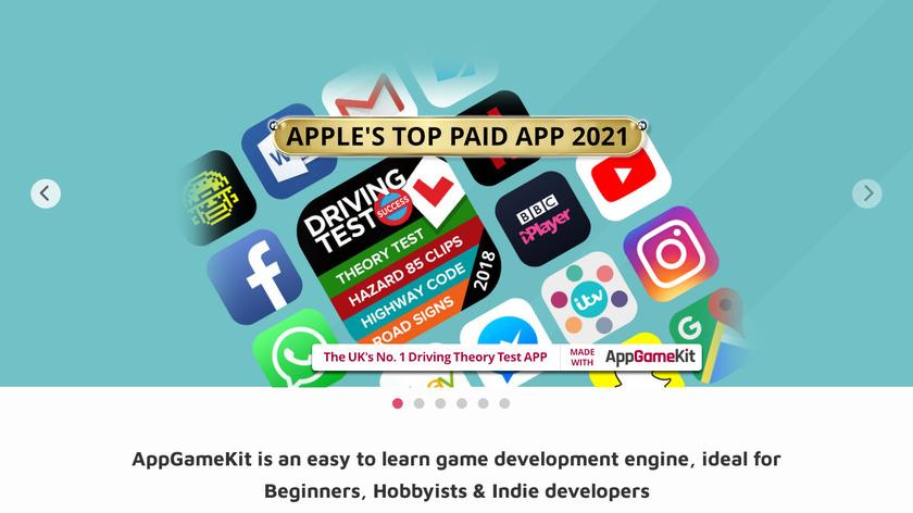 AppGameKit Landing Page