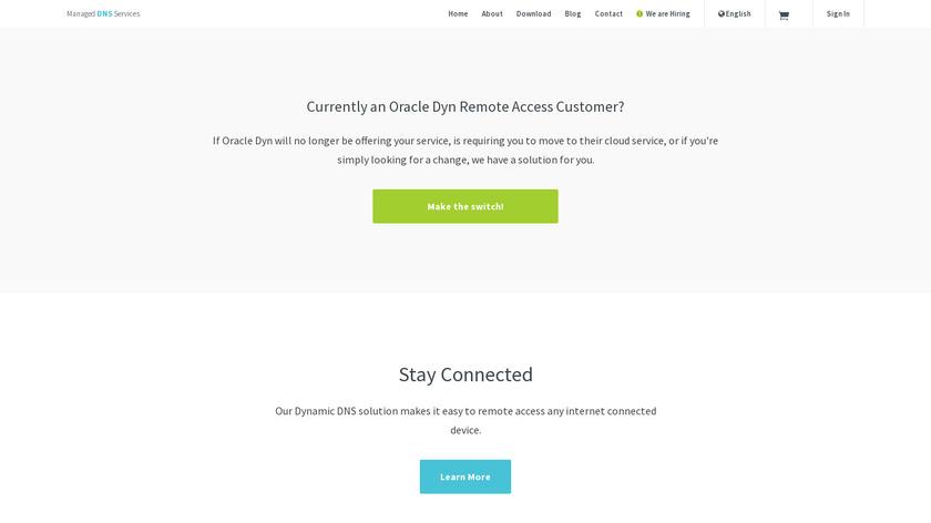 No-IP Landing Page