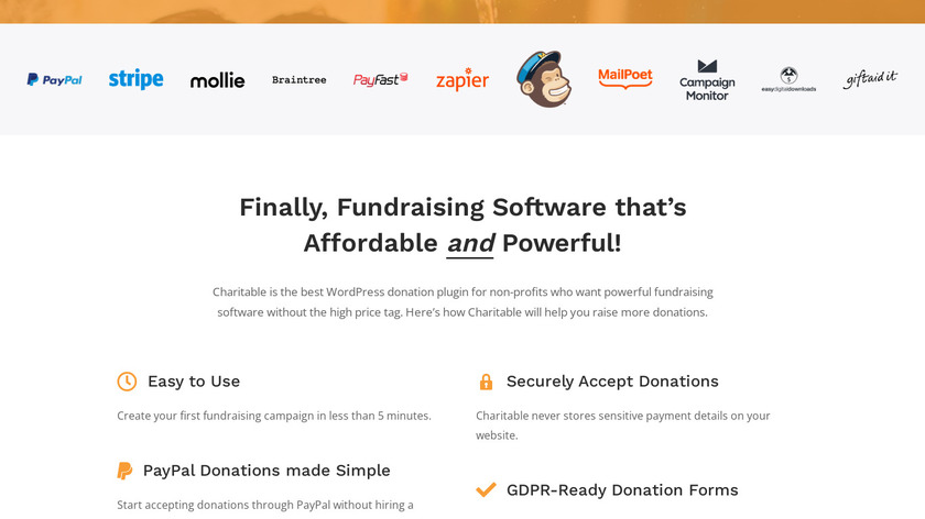 Charitable Landing Page