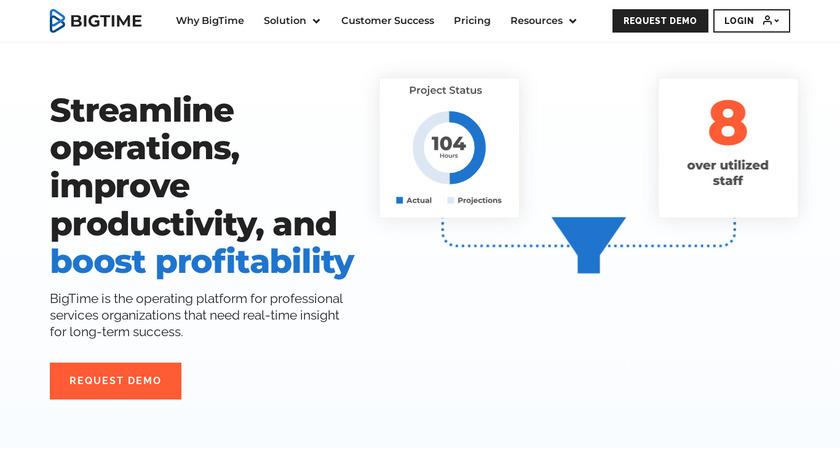 BigTime Landing Page