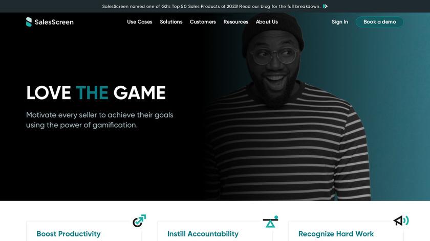 SalesScreen Landing Page