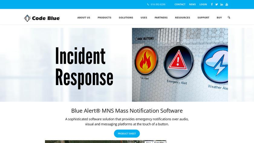 Blue Alert MNS Landing Page
