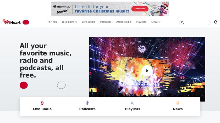 iHeartRadio Landing Page
