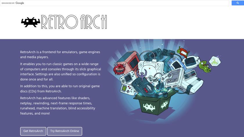 RetroArch Landing Page