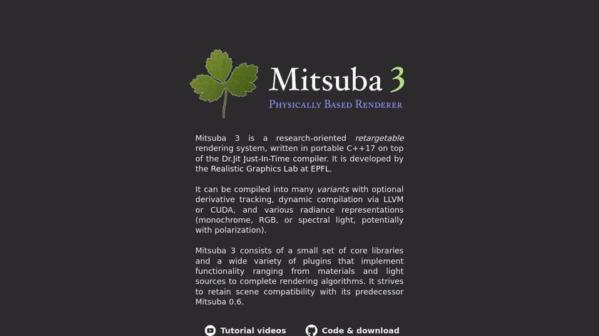 Mitsuba Landing Page