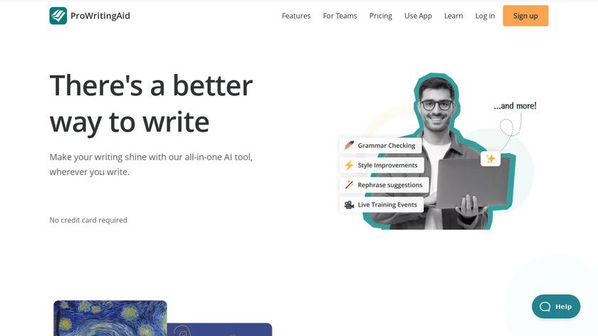 ProWritingAid Landing Page