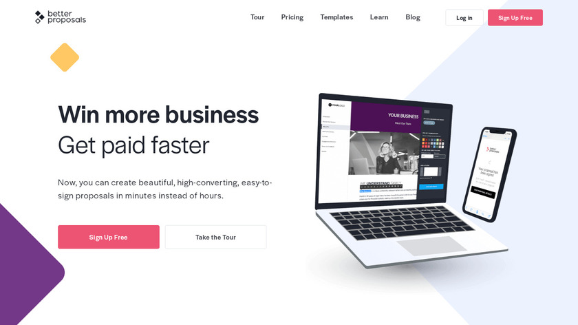 Better Proposals Landing Page