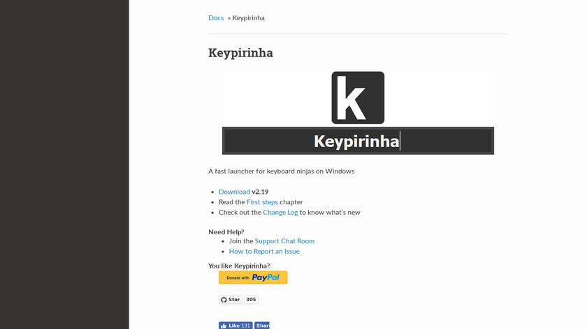 Keypirinha Landing Page