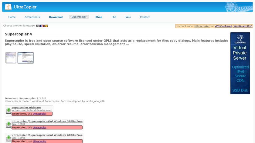 SuperCopier Landing Page