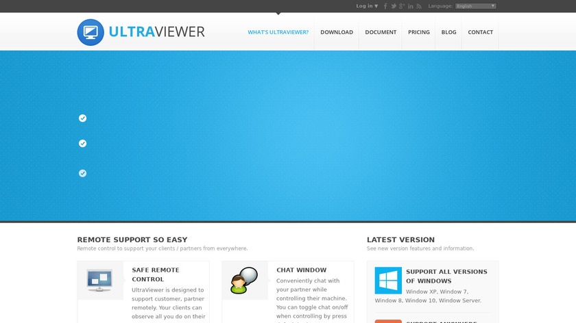 UltraViewer Landing Page