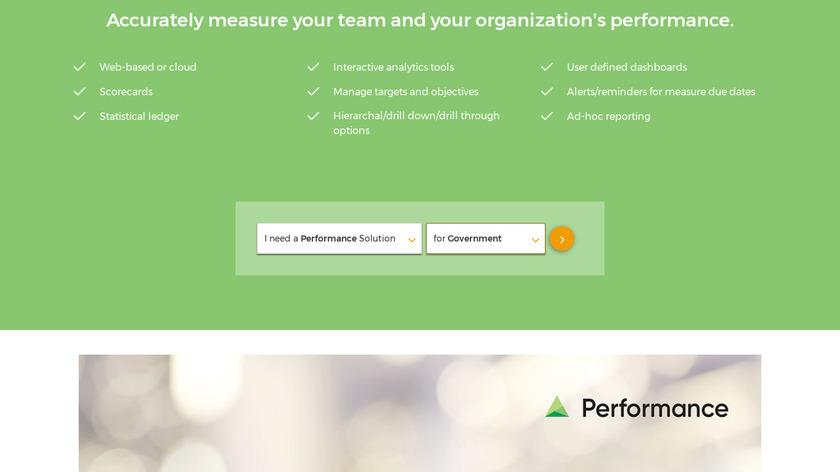 Questica Performance Landing Page