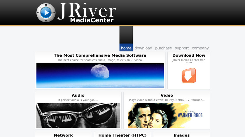 JRiver Media Center Landing Page