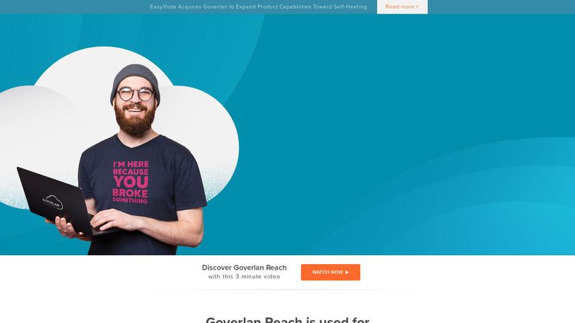 Goverlan Reach Landing Page