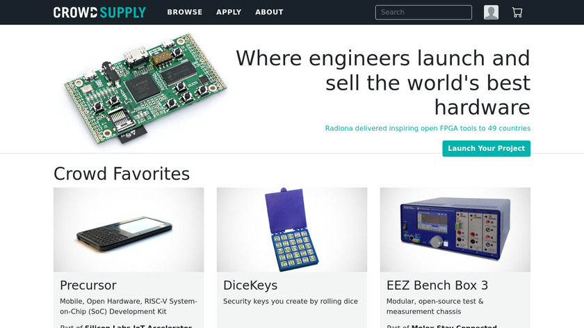 Crowd Supply Landing Page