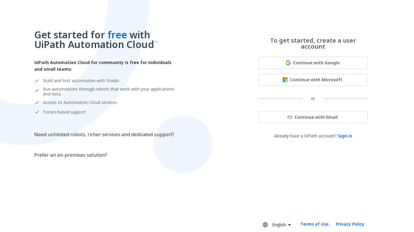 UiPath Landing Page