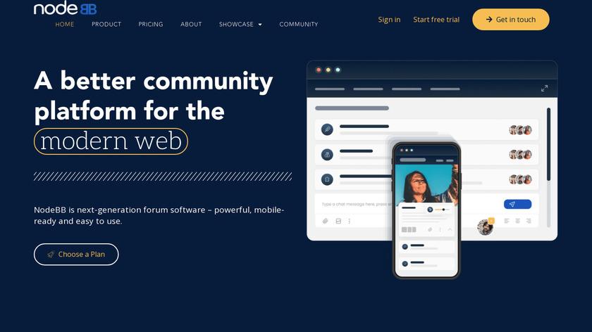 NodeBB Landing Page