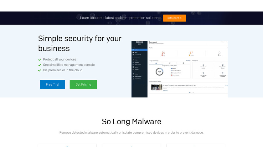 Sophos Endpoint Protection Landing Page